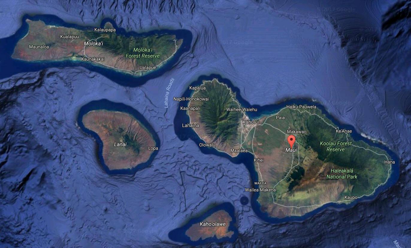 Maui County Map
